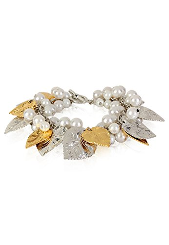 Estelle Estelle Gold Plated Bracelet With Pearl For Women (Yellow)