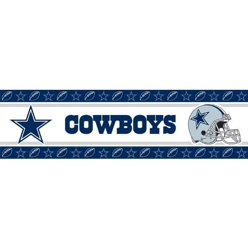 .com : Dallas Cowboys 1 Roll 15ft Wall Paper Border : Dallas Cowboys