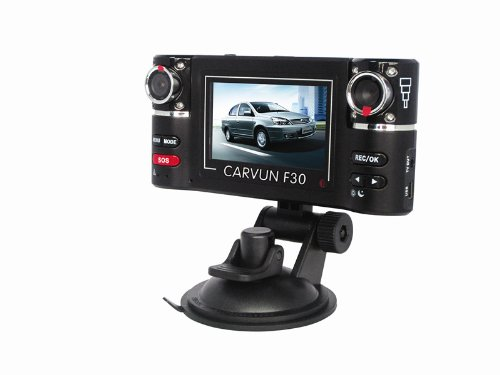 F30 HD Dual Camera Lens Car Vehicle DVR Cam Dash Video Recorder 8 IR Lights SOS