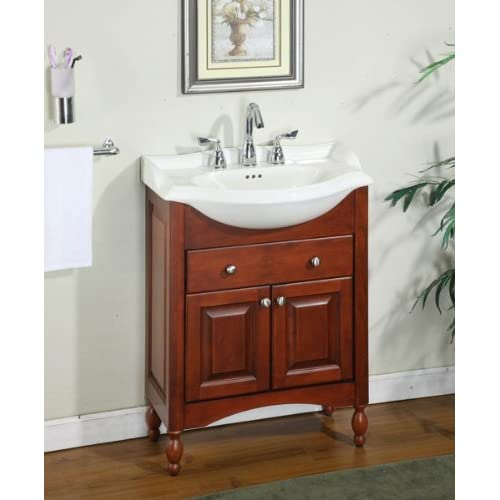 windsor 26 narrow depth bathroom vanity base