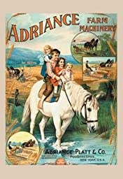 Paper poster printed on 20 x 30 stock. Adriance Farm Machinery