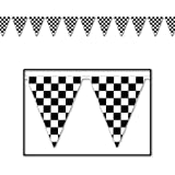 Checkered Pennant Banner Party Accessory (1 count) (1/Pkg)