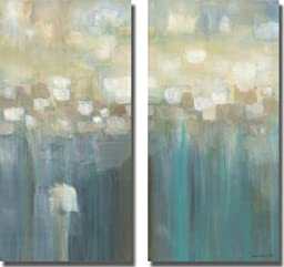 Aqua Light by Karen Lorena Parker 2-pc Premium Stretched Canvas Custom Set (Ready to Hang)