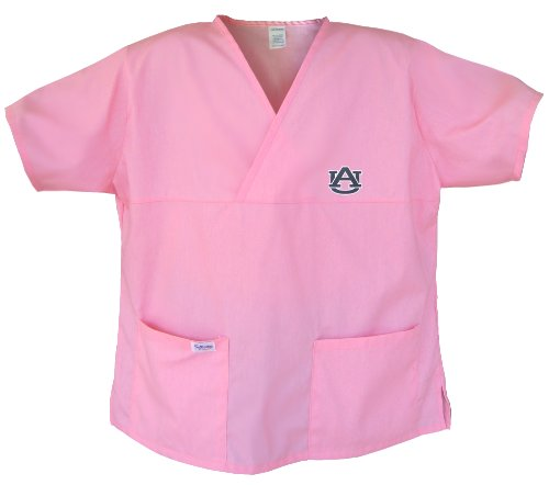 Auburn Pink Scrubs Tops SHIRT -Size SM Auburn Tigers For HER -Officially Licensed NCAA College Logo Apparel Unique GIFT Ideas For Mom Nurses Ladies Students Graduation at Amazon.com