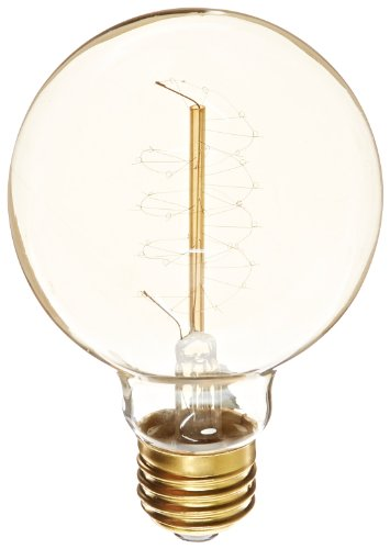 Heirlume Hl-7325Wpack1 Vintage Edison Bulb 25-Watt With Medium Base And Globe Shape, 3.2-Inch X 4.7-Inch, 1-Pack