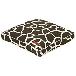 """Everyday Cotton Pillow Dog Bed in Giraffe Size: 30"""" x 30"""""""