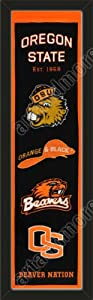 Heritage Banner Of Oregon State Beavers-Framed Awesome & Beautiful-Must For A... by Art and More, Davenport, IA