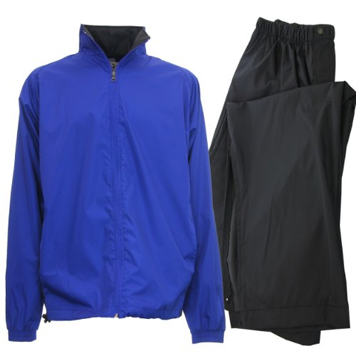 IXSPA Men's Packable Golf Rain Suit - X-Large Royal Blue
