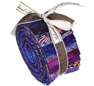 Iris Strip Tease Bun 2.5 Inch Batik Strips by Island Batik