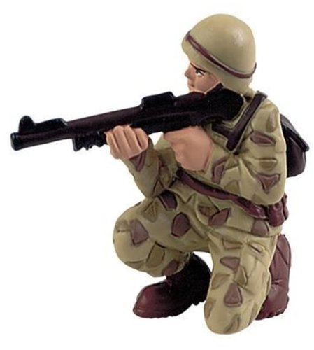"Bullyland - Squatting Soldier Figurine 2.6"" - French version"