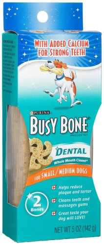 Busy Bone Dental for Small/Medium Dogs, 5-Ounce Bags (Pack of 8)