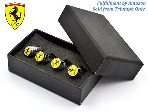 Triumph®(Spedito da Amazon) Ferrari pneumatico pneumatico metallo lega aria gambo valvola tappo regalo cofanetto per f12berlinetta, FF, 488 GTB, Spider, 458 Speciale, California T, F12tdf, Laferrari, Speciale A (Ferrari)