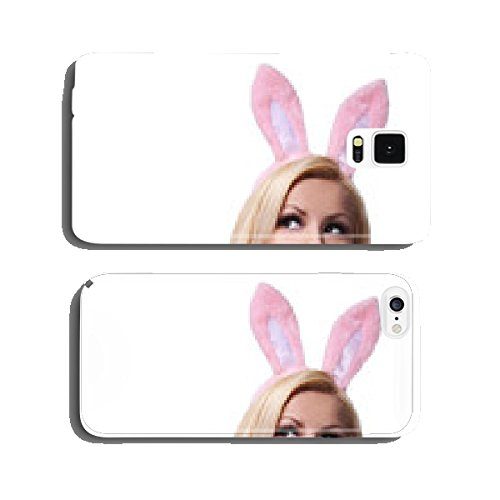 Sexy Woman with Bunny Ears. Playboy Blonde. Smiling Easter Girl cell phone cover case iPhone5 (Playboy Bunny Phone Accessories compare prices)