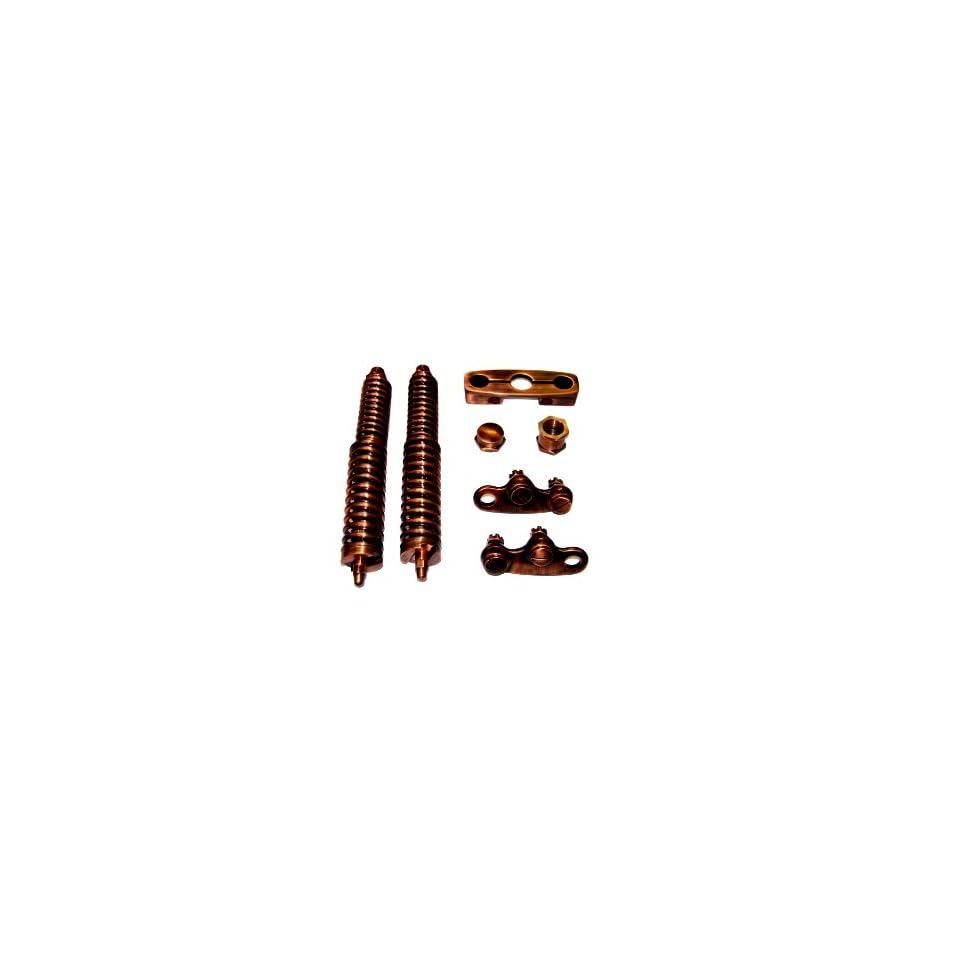 DNA Vintage Brush Copper Black Springer Front End Hardware