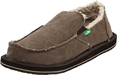 Sanuk Men's Vagabond Chill Slip-On,Brown,7 M US