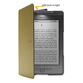Amazon Kindle Lighted Leather Cover, Olive Green (does not fit Kindle Paperwhite)