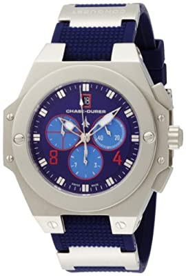 Chase-Durer Men's 779.2SLL Conquest Sport Chronograph Stainless Steel and Titanium Watch