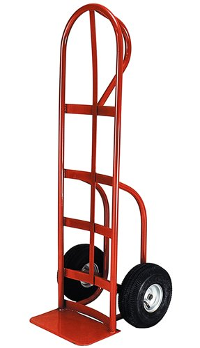 Milwaukee Hand Trucks 40820 P-Handle Truck with 10-Inch Pneumatic Tires and Stair Climbers