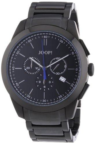 Joop Gents Chrono JP100711F07 - Reloj cronógrafo de cuarzo para hombre, correa de acero inoxidable chapado color negro (cronómetro)