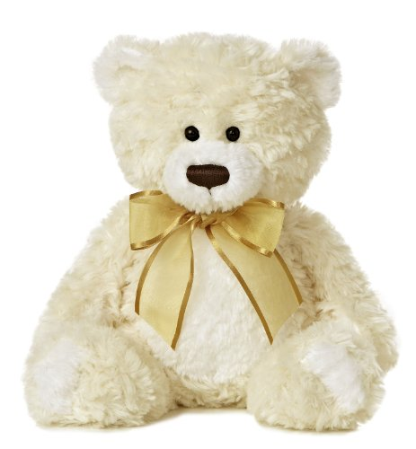 "Aurora World Cream n' Sugar Bear Plush, Medium/12"" Tall"