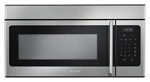 Smeg otr316xu over the range 1000w microwave with hood function 30 stainless steel - Red over the range microwave ...