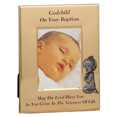 Metal Godchild Baptism Girl Photo Frame - 1