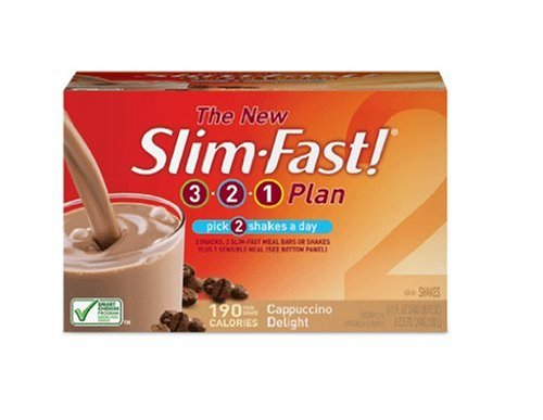 Slim-Fast 3-2-1 Plan, Ready To Drink Shake, Cappuccino Delight, 11-Ounce Cans (Pack of 24)