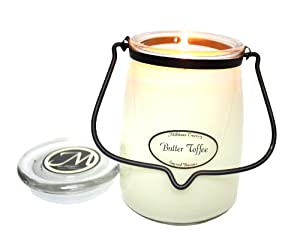 Milkhouse Candle Creamery Butter Jar Candle, Butter Toffee, 22-Ounce