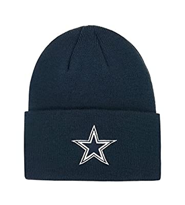 Reebok NFL Hat Dallas Cowboys Authentic Team Apparel Navy Blue Basic Beanie