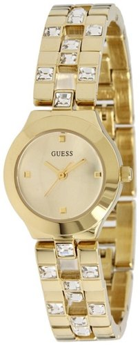 GUESS Women's U10085L1 Feminine Sparkle and Polish Watch