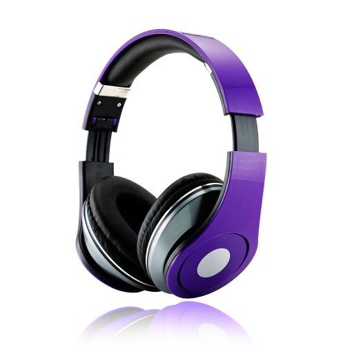 Gearonic Adjustable Circumaural 3.5Mm Over-Ear Stereo Headphone For Ipod, Mp3, Mp4, Pc And Iphone Music - Non-Retail Packaging - Purple