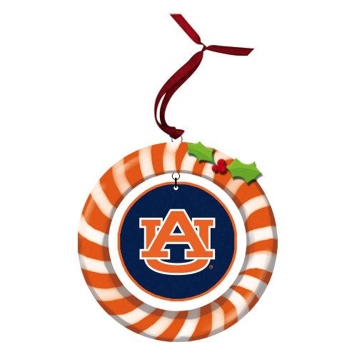Auburn University Candy Cane Wreath Ornament at Amazon.com