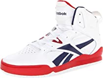 Reebok Footwear Mens BB4700 Mid Basketball Shoe,White/Athletic Navy/Excellent Red,9 M US