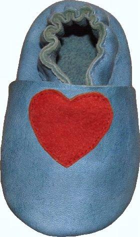 Cheap Tibet PLATEAU soft sole infant full grain baby shoes SUEDE heart blue (B001EYE9D0)