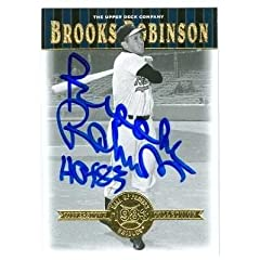 Brooks Robinson Autographed Hand Signed Baseball Card (Baltimore Orioles) 2001 Upper...