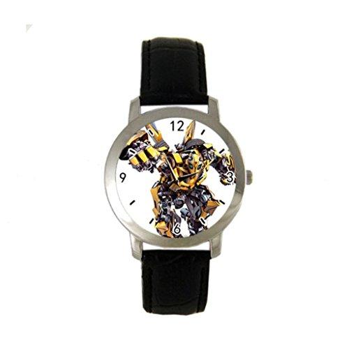 Bumblebee - Transformers Custom Women / Men Metal Sport Leather Band Watch Collectible Wrist Watch Unisex