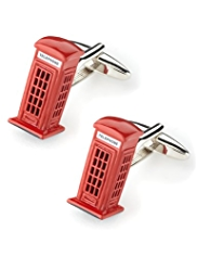 Telephone Box Rectangular Cufflinks