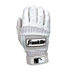 Franklin Sports Adult MLB Neo Classic II Series Batting Gloves (Pair), Pearl White,... by Franklin