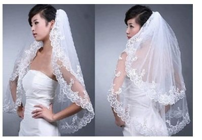 Love Dress 1.5m Length White/ivory 2 Layer Bride Accessories Bridal Veils (White)