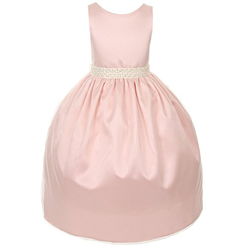 Kids Dream Blush Pink Pearl Special Occasion Dress Toddler Girl 3T/4T