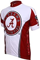 Alabama Crimson Tide UA NCAA Mountain Bike Jersey,Large (White/crimson)