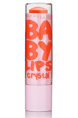 Maybelline New York Baby Lips Crystal Lip Balm, Gleaming Coral, 0.15 Ounce front-449950