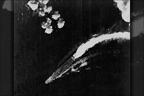 The Japanese Aircraft Carrier Hiryu Maneuvers To Avoid Bombs Dropped By Usaaf Boeing B-17E Flying Fortress Bombers During The Battle Of Midway, Shortly After 0800 Hrs, On 4 June 1942 Poster