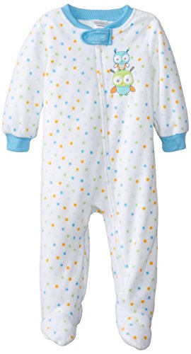 Absorba Baby-Boys Infant Owl Sleeper, Dot, 24 Months front-1050927