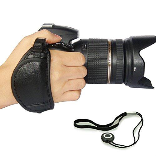 First2savvv OSH0701G14 NEW Professionelle Leder Hand Grip Kamera Handschlaufe für Nikon D4S SONY A77 II SAMSUNG Galaxy NX WB1100F NX1 NX30 panasonic LUMIX DMC-FZ1000EB DMC-FZ200 LUMIX DMC-FZ70 Sony Alpha 77 M2 DSLR ILCA-77M2 Alpha 77 M2 DSLR ILCA-77M2Q a7S ILCE-7S PENTAX K-r Pentax K-30 K-5 II K-5 Iis K-3 X5 645D 645 Z Canon EOS 7D Mark II PowerShot SX60 HS EOS 7D Mark II PowerShot SX60 HS Nikon D750 mit Objektivdeckel Seil