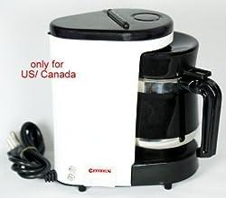 Citizen 400 Watt, 110V Coffee Maker (White)-for USA / CANADA