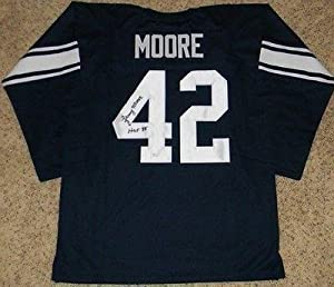 Lenny Moore Autographed Jersey - Penn State Nittany Lions #42 Throwback - JSA... by Sports+Memorabilia