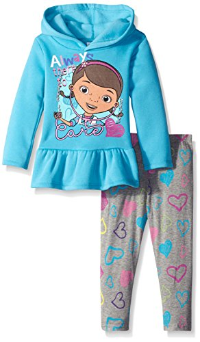 Disney Little Girls' Always There To Care Doc Mcstuffins Fleece Hoodie Legging Set, Blue, 3T (Doc Mcstuffins Clothes compare prices)