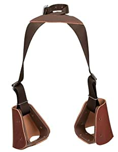 Weaver Leather Lil' Dude Stirrups, Brown Nylon