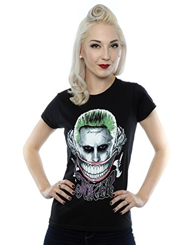 Suicide Squad Donna Joker Coloured Smile Maglietta XX-Large Nero